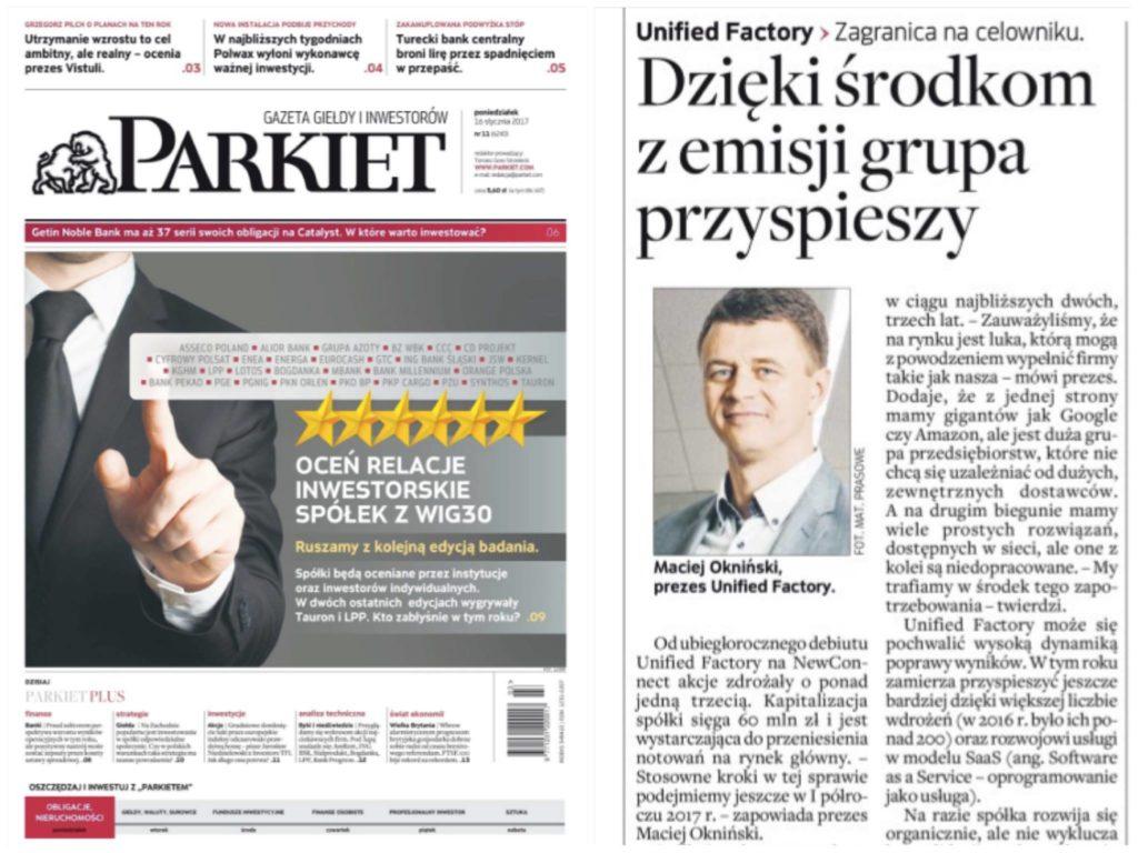 Prezes Okniński o planach Unified Factory