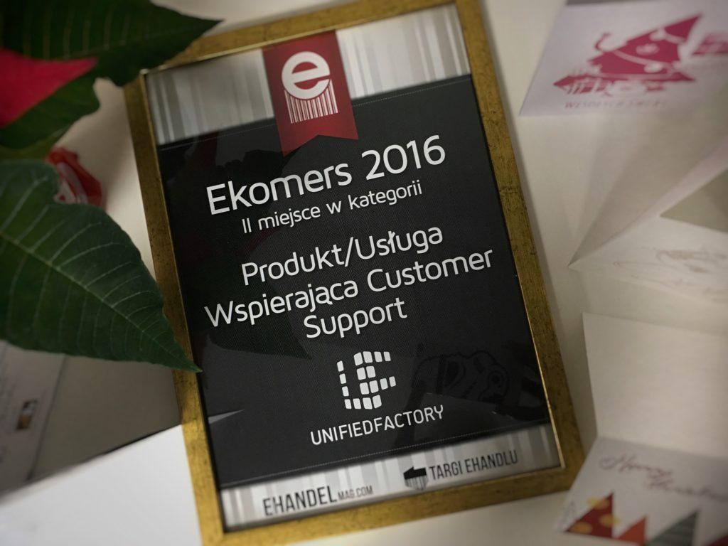 Unified Factory wyróżniona w konkursie eKomersy 2016!